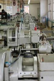 machine park for the manufacture of turned parts